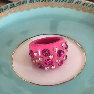 Vintage Pink Lucite Dome Ring